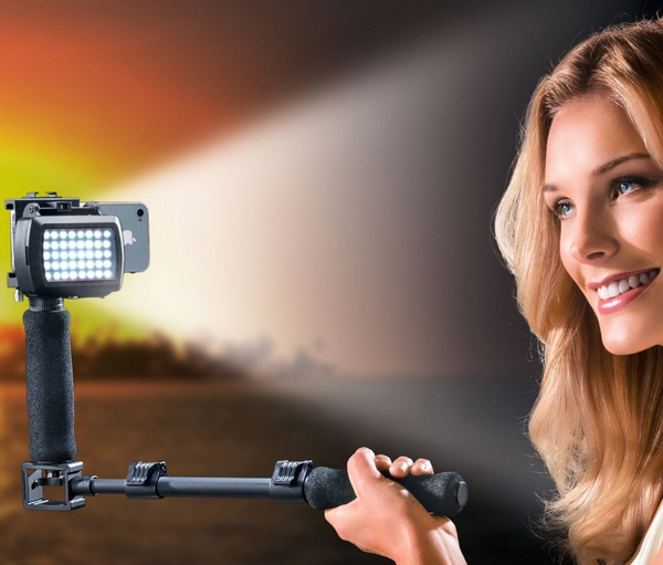 Photo Lamp Tripod – snazzy self portraits the easy way