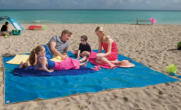 Four Person Beach Mat is a sand-free zone for fun