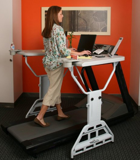 TrekDesk Treadmill Desk – get fit while you work with just a gentle stroll