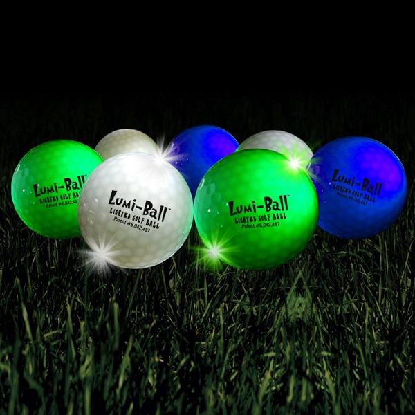 Lumiball LED Golf Balls – surely nothing could go wrong here