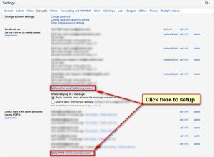 Set up Pop email check and Send As feature in Gmail