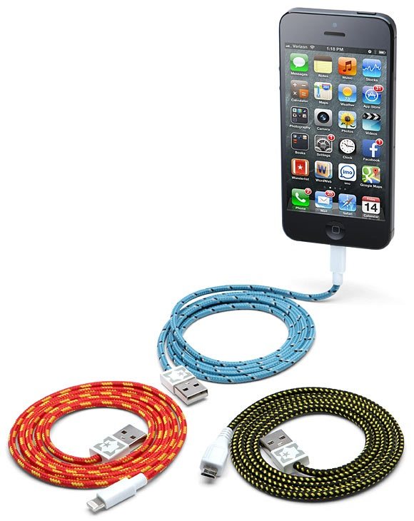 Braided Fabric Smartphone Cables – I got 99 problems, but a tangle ain't one
