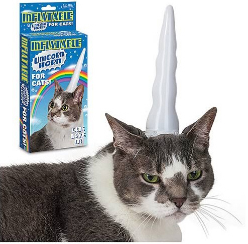 Inflatable Unicorn Hat For Cats – give them a gift they'll treasure for ever