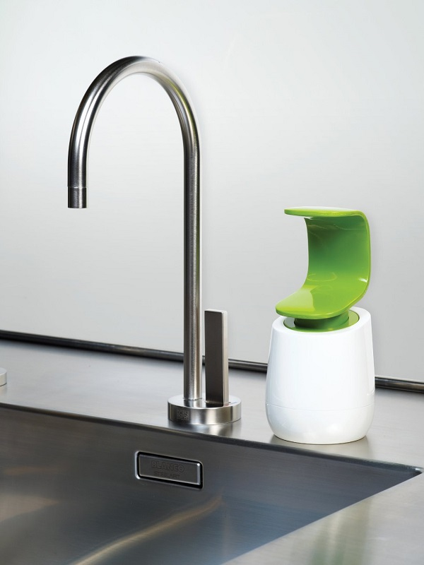The C-Pump Single-Handed Soap Dispenser makes washing your hands even more hygienic