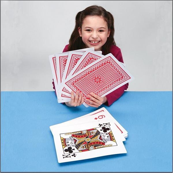 Jumbo Playing Cards – just try and use sleight of hand