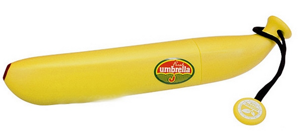 The Banana Umbrella – it's an umbrella. That thinks it's a…yeah you get the picture…