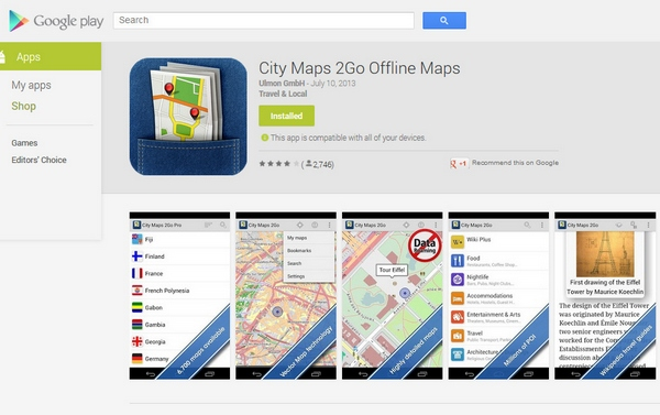 City Maps 2Go – amazing offline maps of the world now on free offer, get it quick before it goes away [Freeware]