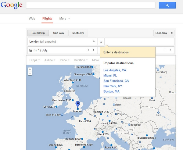 Google Flights – the search engine for your business and vacation getaways