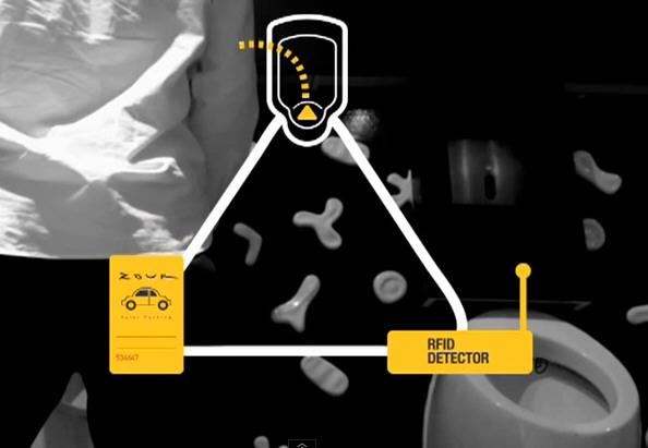 The Pee Analyzer – RFID chip and card + urinal + nightclub = safer roads