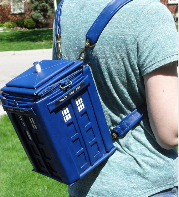 Tardis Backpack – large enough to carry several lunches, a lawyer and a handy screwdriver