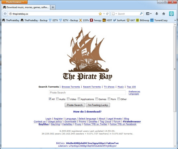PirateBrowser – new browser bundle evades government censorship rules with a click [Freeware]