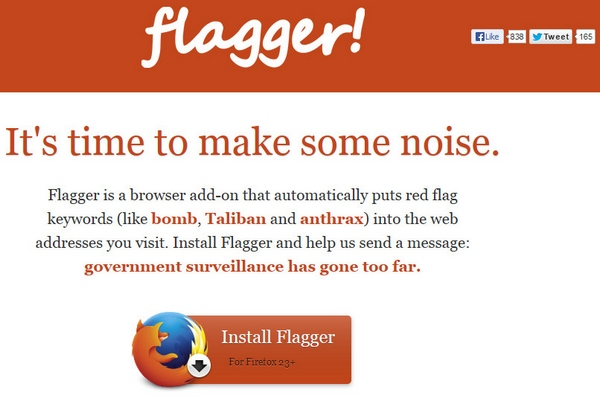 Flagger – the browser add-on designed to drive government snoops crazy [Freeware]