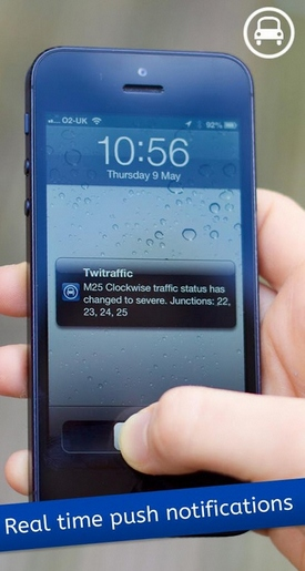 Twitraffic – real time UK traffic news on your phone from the tweets of others [Freeware for 48 hours]