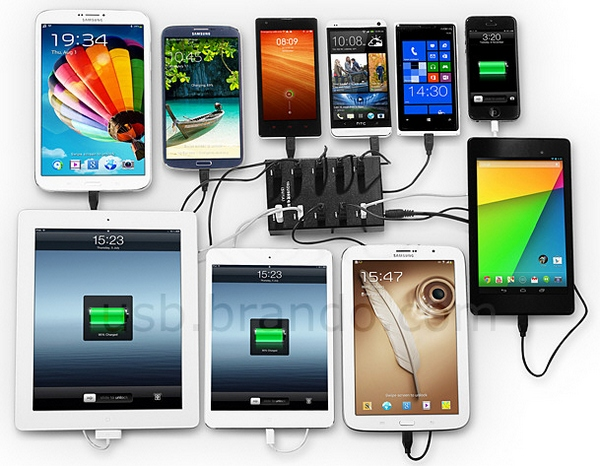 10 Port USB Charging Station – for really serious gadget freaks only