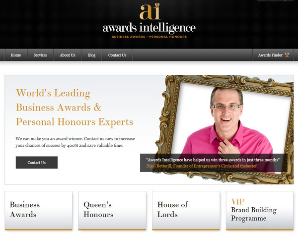 Awards Intelligence – fancy being knighted by the Queen? These people can help…