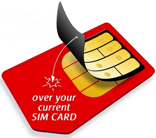 BiBiTel SIM Skin – stick on SIM card converts your existing SIM to cheap calls