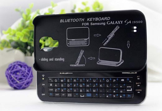 Bluetooth Sliding Keyboard for Galaxy S4 – make like a text master and ditch your clumsy touchscreen keyboard