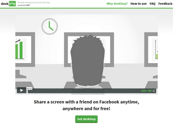 DeskHop – share your screen with a friend on Facebook anytime
