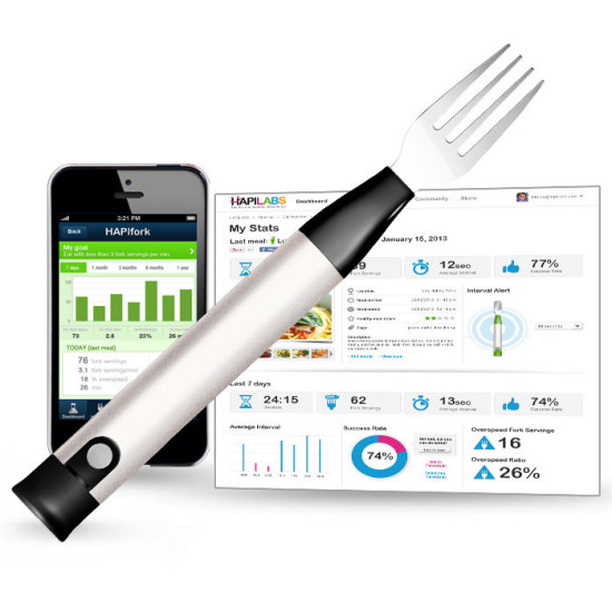 HAPIfork – Bluetooth 'smart' fork teaches us how to eat better, lose weight and stay healthy