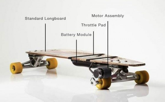 Kickr – retro-fit your longboard with some electric go-go power