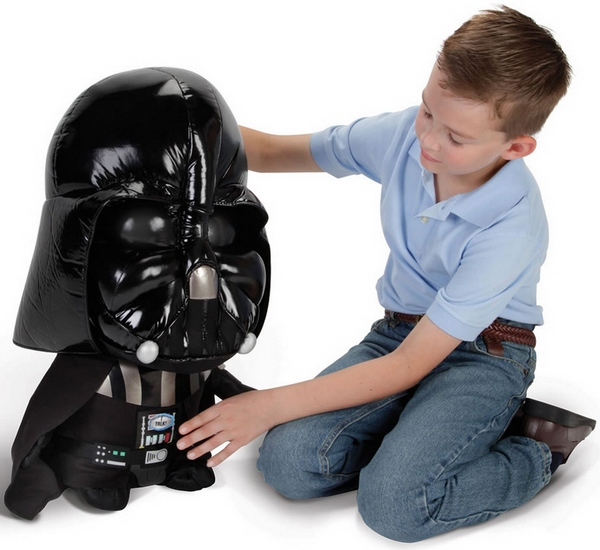 Talking Plush Darth Vader – finds your lack of faith disturbing…