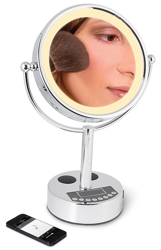 Bluetooth FM Radio Vanity Mirror – the easy guide to looking stupid in front of your family