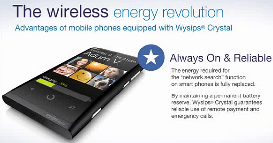 Wysips Crystal – infinite standby technology could make phone chargers a thing of the past
