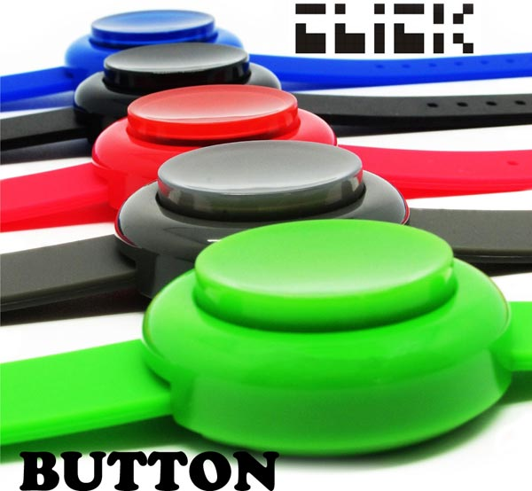 Click Arcade Button Watch – Like playing a retro video game whenever you check the time