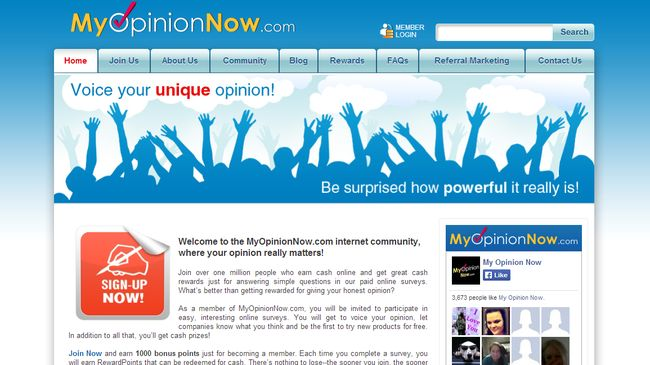 MyOpinionNow.com - Get Paid For Sharing Your Opinion