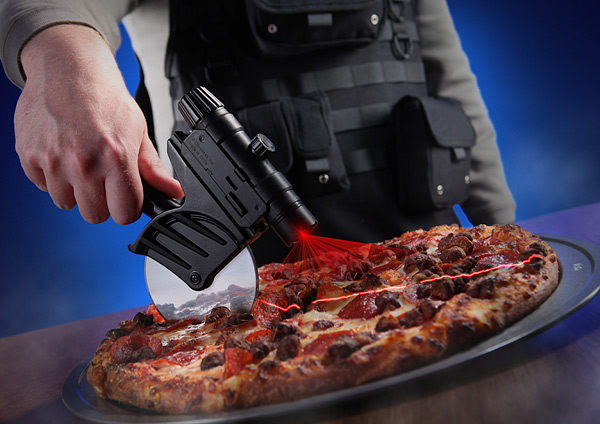 Tactical Laser-Guided Pizza Cutter – When straight lines are more important than life itself.