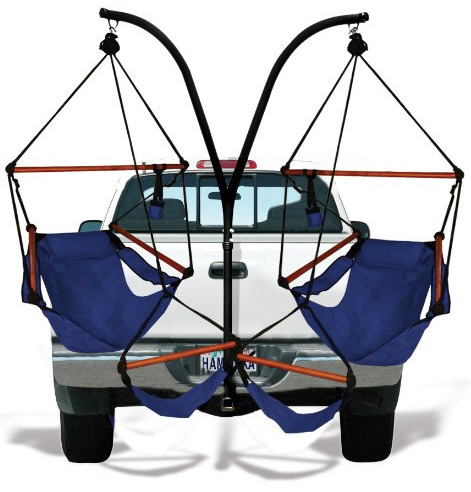 Trailer Hitch Hammock Chair Combo – make your pickup a bit more sociable