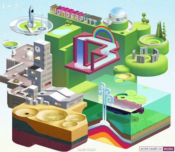 WonderPutt – beautiful mini golf game will delight your tired brain