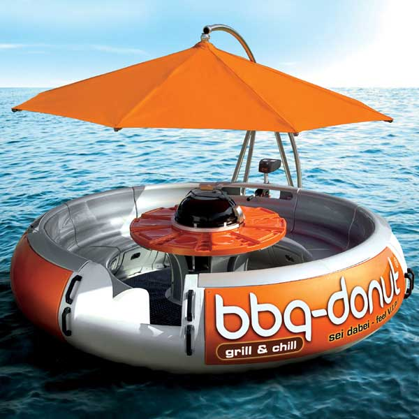 BBQ Donut Boat – Have a BBQ while on a boat, but sadly no BBQ donuts