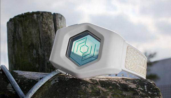 Kisai Spider Acetate White LCD Watch – It's like a spider web on your wrist; only cool instead of creepy