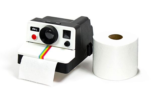 Polaroll Toilet Paper Holder – A camera for less-than-photographic moments
