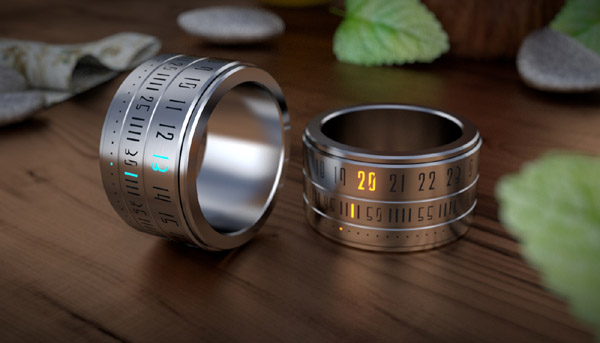Ring Clock – Time on your hands… or at least on your finger