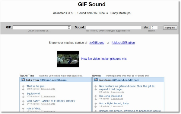gifsound 1 GIF Sound   combine your fave audio with gif images and enjoy...