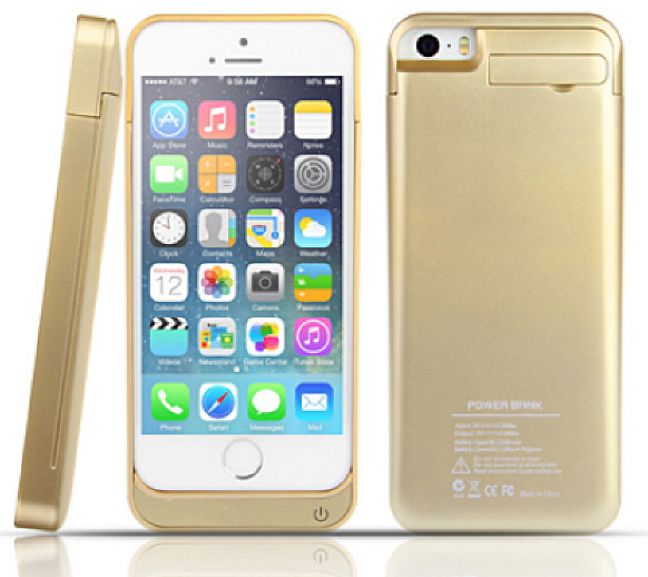 Gold Power Jacket for iPhone 5 – bling bling, bells will ring