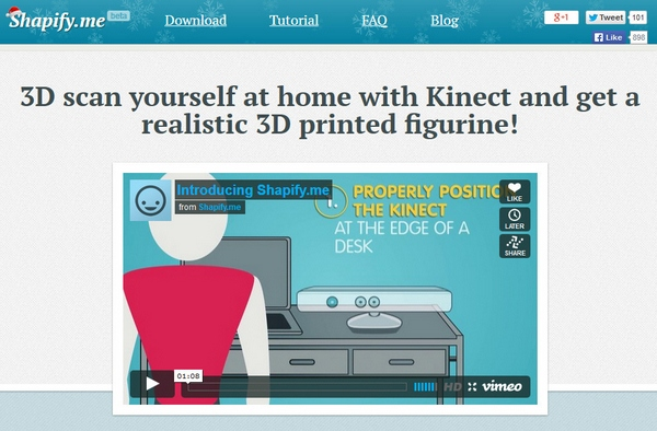 Shapify – create your own 3D mini-me figure with your PC