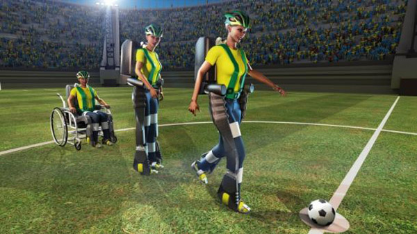 Exoskeleton kick to kick-off World Cup in Brazil