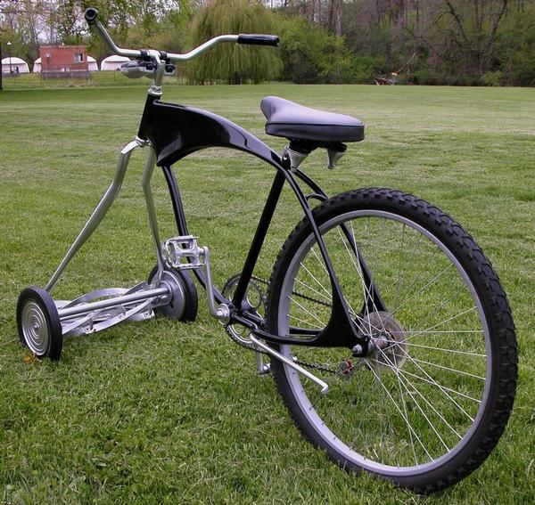 Custom Chopper Mower Bike – only one careful owner…