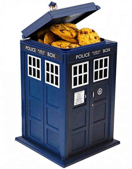 Dr Who TARDIS Cookie Jar Hidden Camera – cookies and time travel, what better way to spy on a fan boy?
