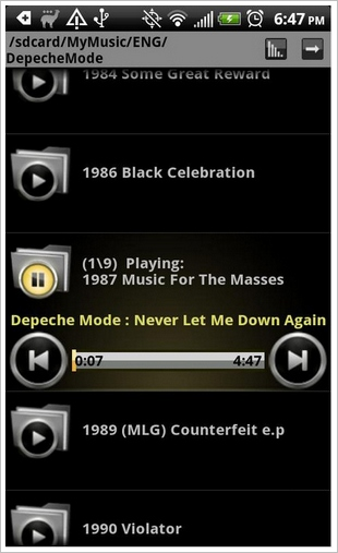 Folder Player – play your music from your folders for convenience [Freeware]