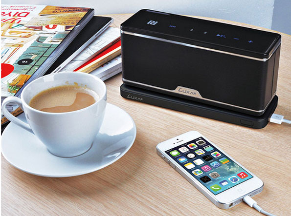 groovyw GroovyW   The Worlds First Bluetooth NFC Wireless Charging Station Speaker