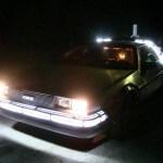 Back to the Future 1981 Delorean Time Machine at Night