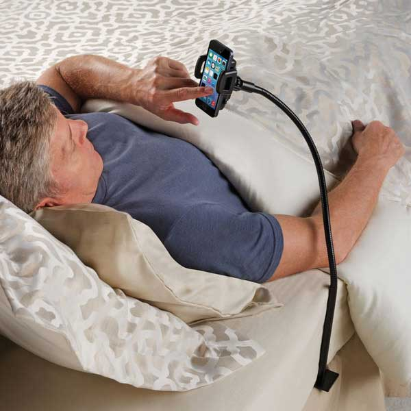 Bedside Smartphone Stand Bedside Smartphone Stand – A sign that maybe you spend too much quality time with your phone.