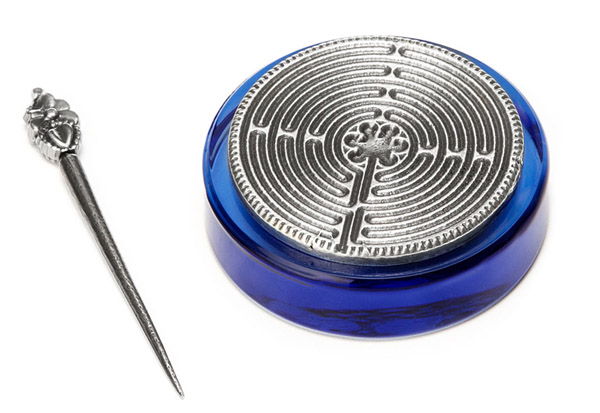 Labyrinth Paperweight – Find your center by finding the center.