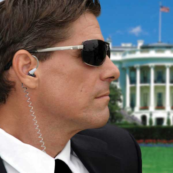 Secret Service Earphones – Secret agent man, they've given you these cool earphones and taken away your name.