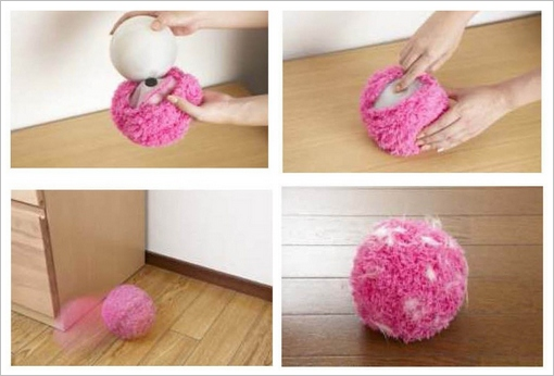 mocororobotballduster2 Mocoro Robot Ball Duster   sweeps and cleans like a little furry friend