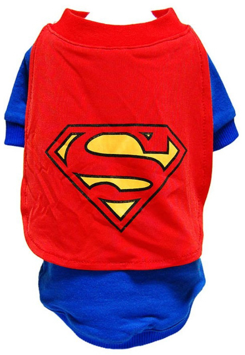 catsupermancostume Cat Superman Costume   photoshop this item, because thats the closest youll get to your cat wearing it